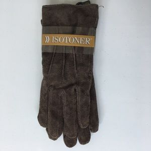 Isotoner Women's Suede Everyday Gloves Brown NWT